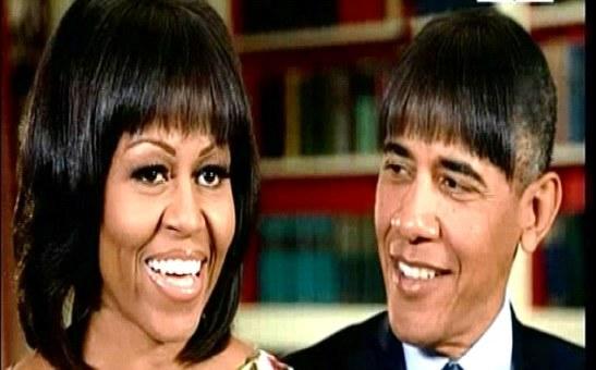 Michelle's Hair Style Rival - Barack