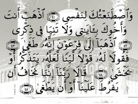 SURAH TA HA - Aayaat 41-45