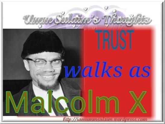 TRUST WALKS AS MALCOLM X
