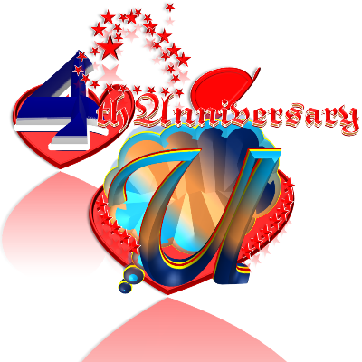 Umm Sulaim's Thoughts - 4TH ANNIVERSARY - Decorated Heart 4th 400
