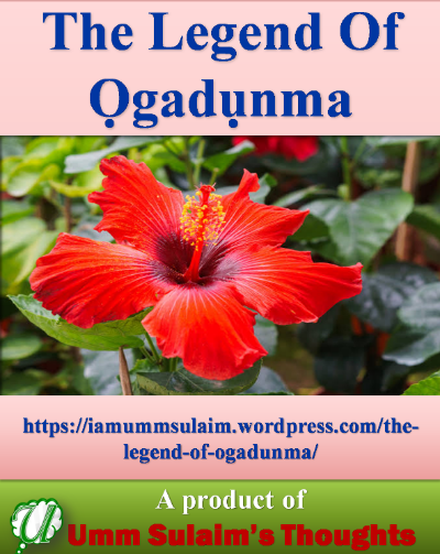 The Legend Of Ọgadụnma - A children's book of conservative life, love, and adventure for boys and girls.